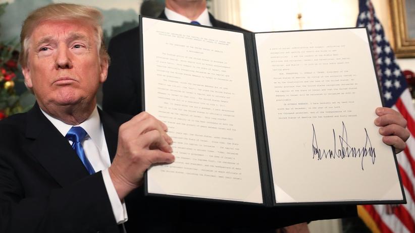 """Przełomowa decyzja Trumpa. ''Początek nowego podejścia do konfliktu między Izraelem a Palestyńczykami"""""""