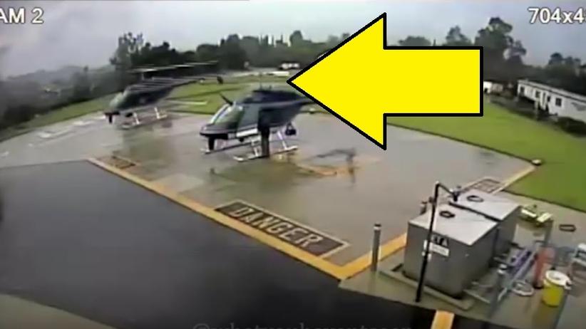 Dwa policyjne śmigłowce zderzyły się ze sobą. Opubliowali nagranie [WIDEO]