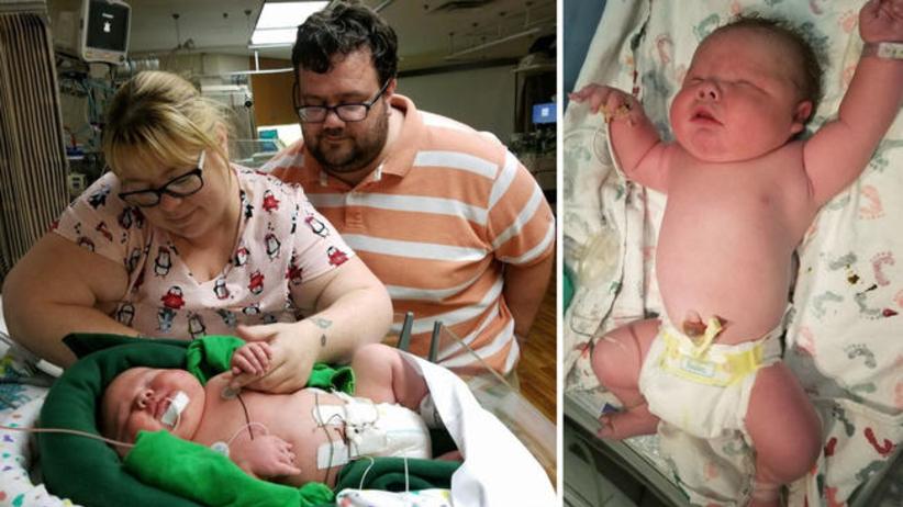 Na świat przyszedł ponad 6 kg noworodek. ''To rekord w historii szpitala'' [WIDEO]