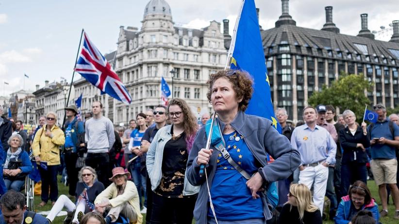 Protest przeciw Brexitowi. Kilkadziesiąt tysięcy osób na ulicach Londynu