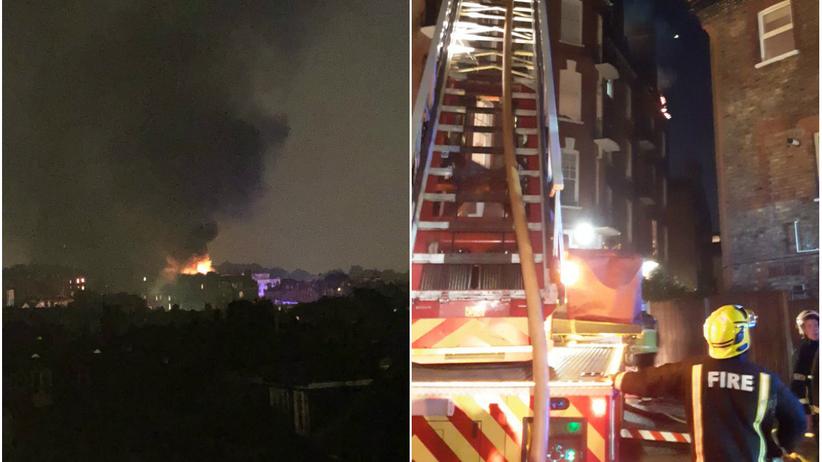 Wielka Brytania. Pożar budynku mieszkalnego w Londynie