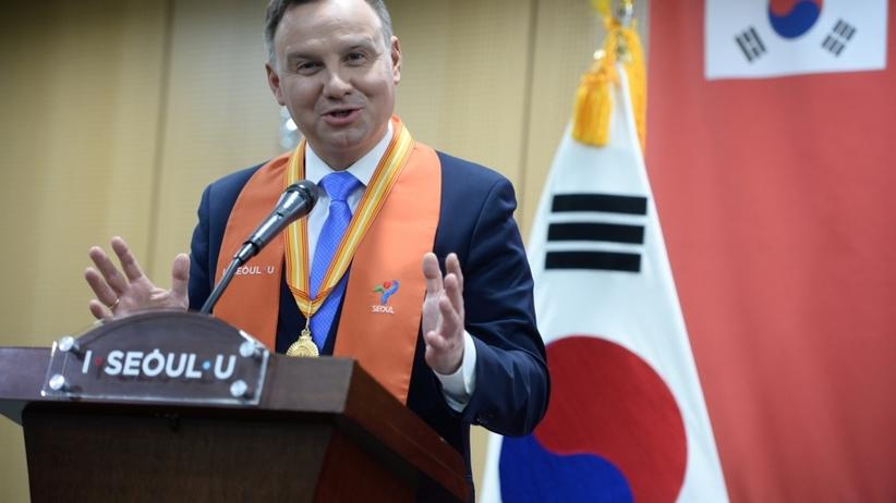 Duda opowiedział w Seulu o programie 500+. Koreańczycy są zainteresowani