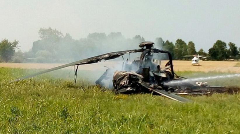 Rozbił się polski śmigłowiec wojskowy. Załoga uratowana