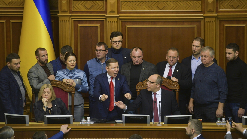 Wojna na Ukrainie. Morze Azowskie. Parlament ukraiński wprowadził stan wojenny