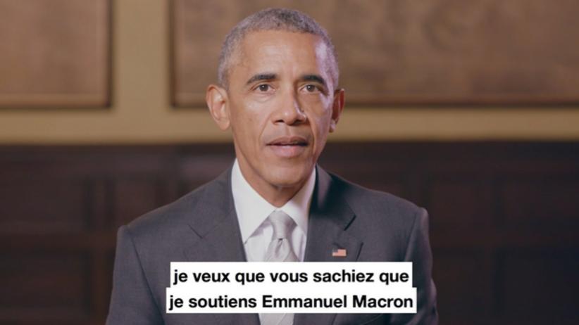 Obama poparł Emmanuela Macrona. Nazywa go obrońcą wartości europejskich [WIDEO]