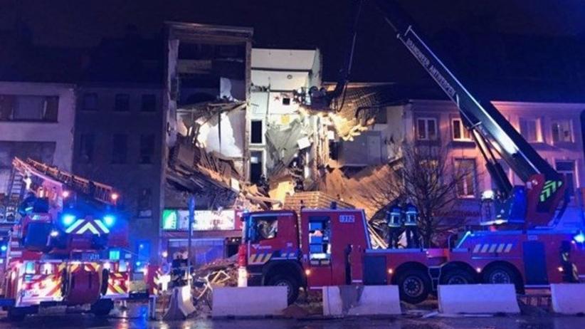 Potężny wybuch gazu w Belgii. Zawalił się budynek, 5 osób rannych