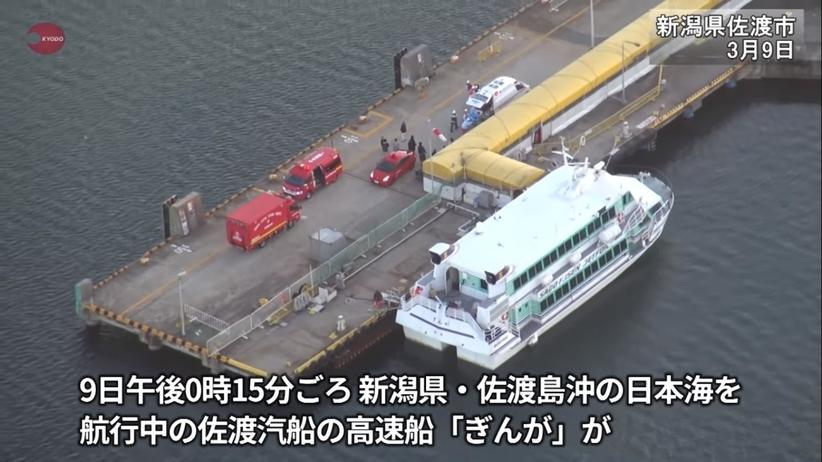 Wypadek na Morzu Japońskim. Wodolot zderzył się z nieznanym zwierzęciem morskim. Blisko 80 rannych