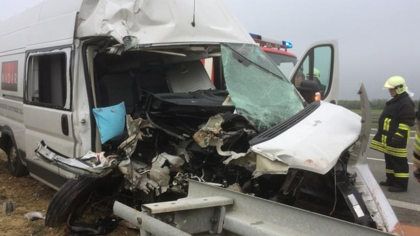 Wypadek polskiego minibusa w Niemczech