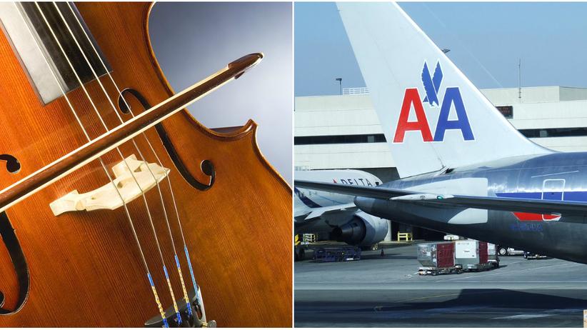 Z powodu instrumentu wiolonczelistka została wyprowadzona z samolotu