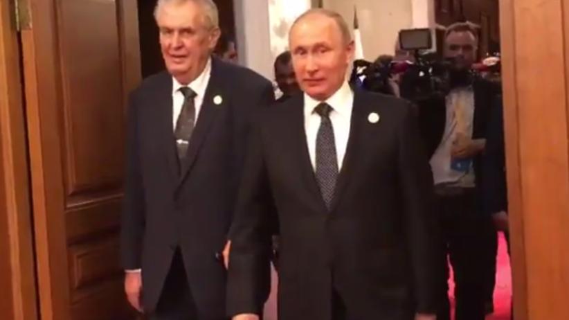 """Zeman """"żartem"""" do Putina: trzeba zlikwidować dziennikarzy [WIDEO]"""