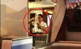 Zlewki alkoholu w liniach Emirates. Nagranie ze stewardessą