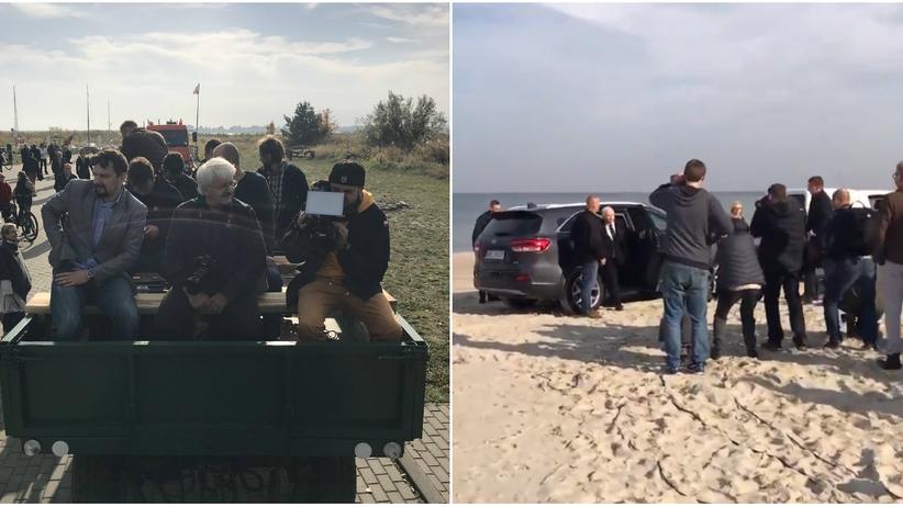 Wybory 2018. Dziennikarze na traktorach, a Kaczyński samochodem
