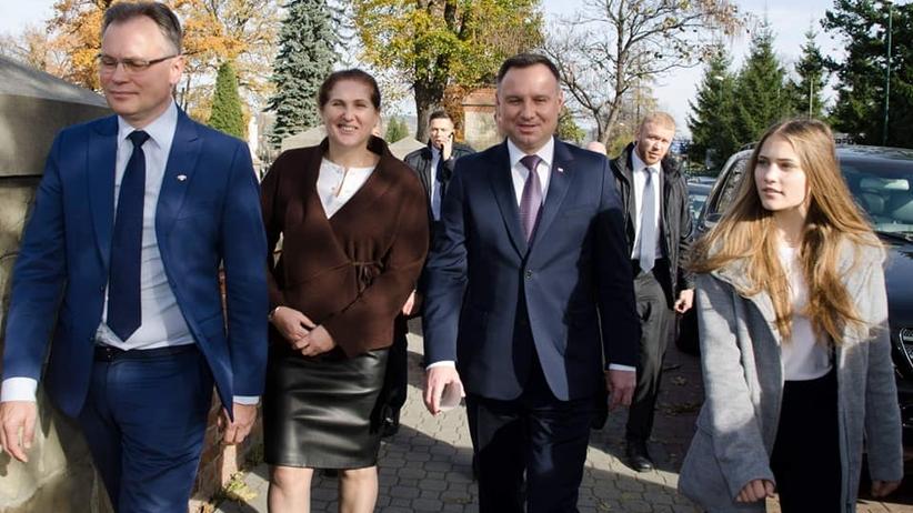 Wybory 2018. Nowy Sącz. Andrzej Duda wsparł kandydatkę PiS-u w wyborach