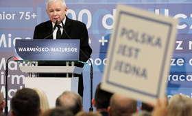 Wybory 2018. Prezes PiS Jarosław Kaczyński o nienawiści i sędziach