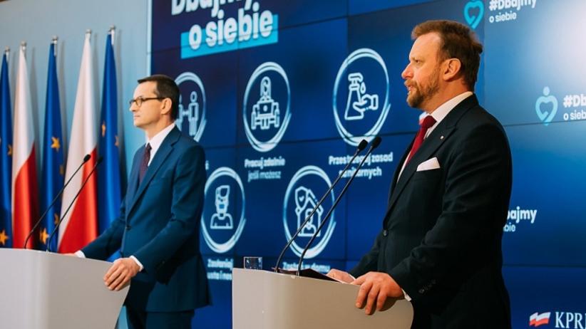 Konferencja premiera Morawieckiego i ministra Szumowskiego