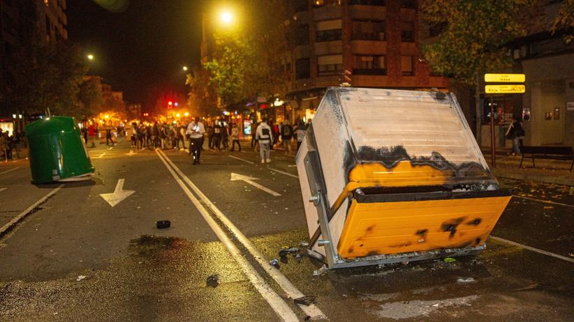 Zamieszki w Hiszpanii
