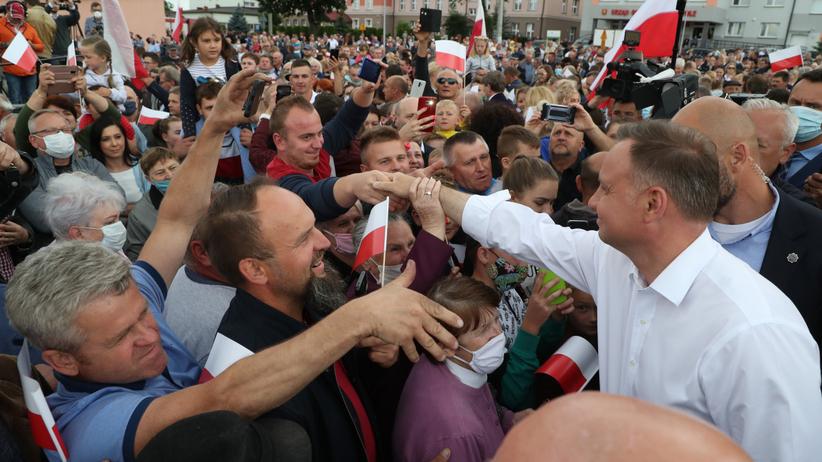 Prezydent Andrzej Duda z wizyta w miejscowosci Odrzywol