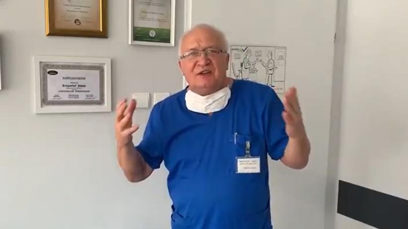 Prof. Simon ze szpitala zakaźnego we Wrocławiu