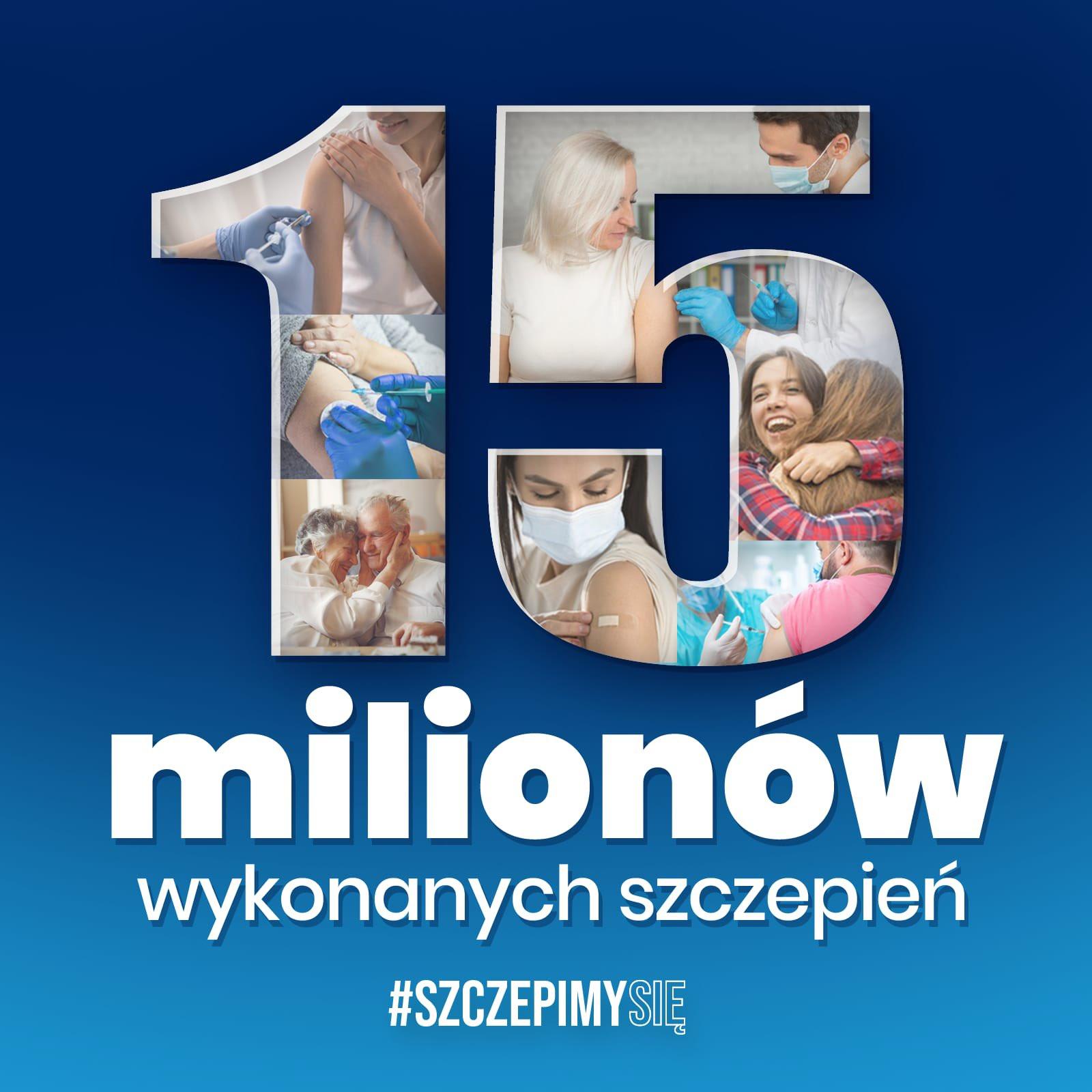 15 milionów szczepień