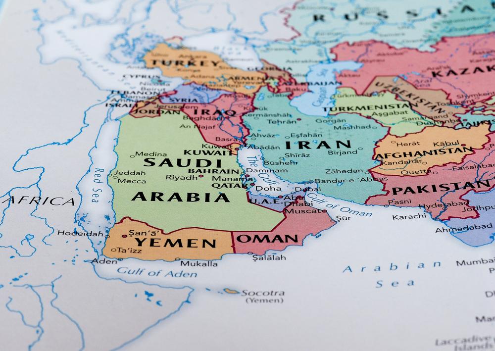 Bliski Wschód na mapie