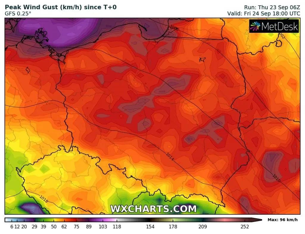 cyklon tymoteusz uderzy w Polsce