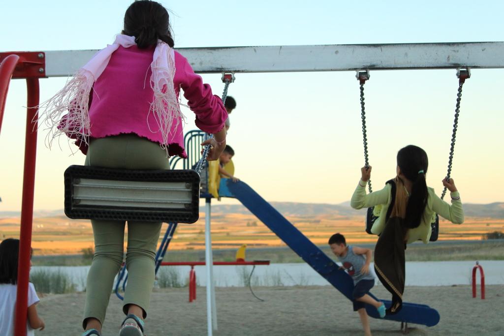 Dzieci w obozie Larisa