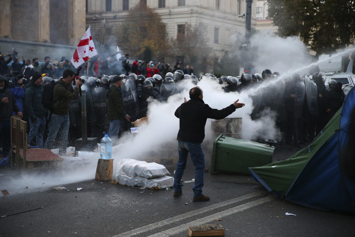 Gruzja protesty