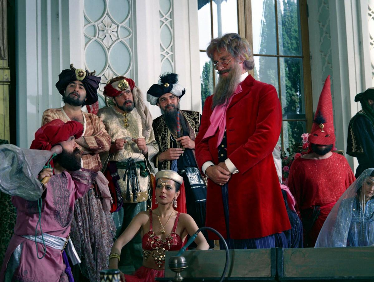 """Kadr z filmu """"Podróże pana Kleksa"""", reż. Krzysztof Gradowski, 1986"""