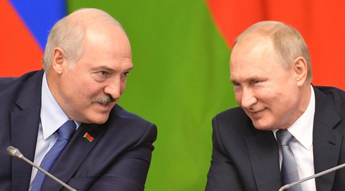 Łukaszenko i Putin