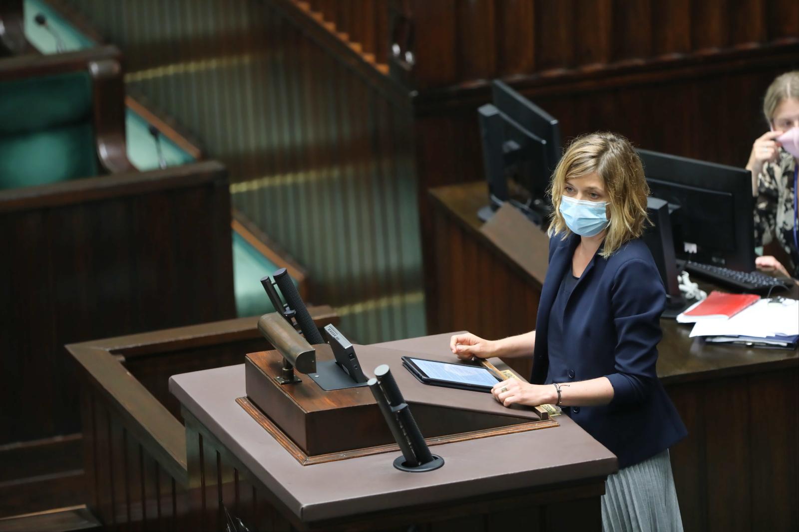 Magdalena Biejat w Sejmie
