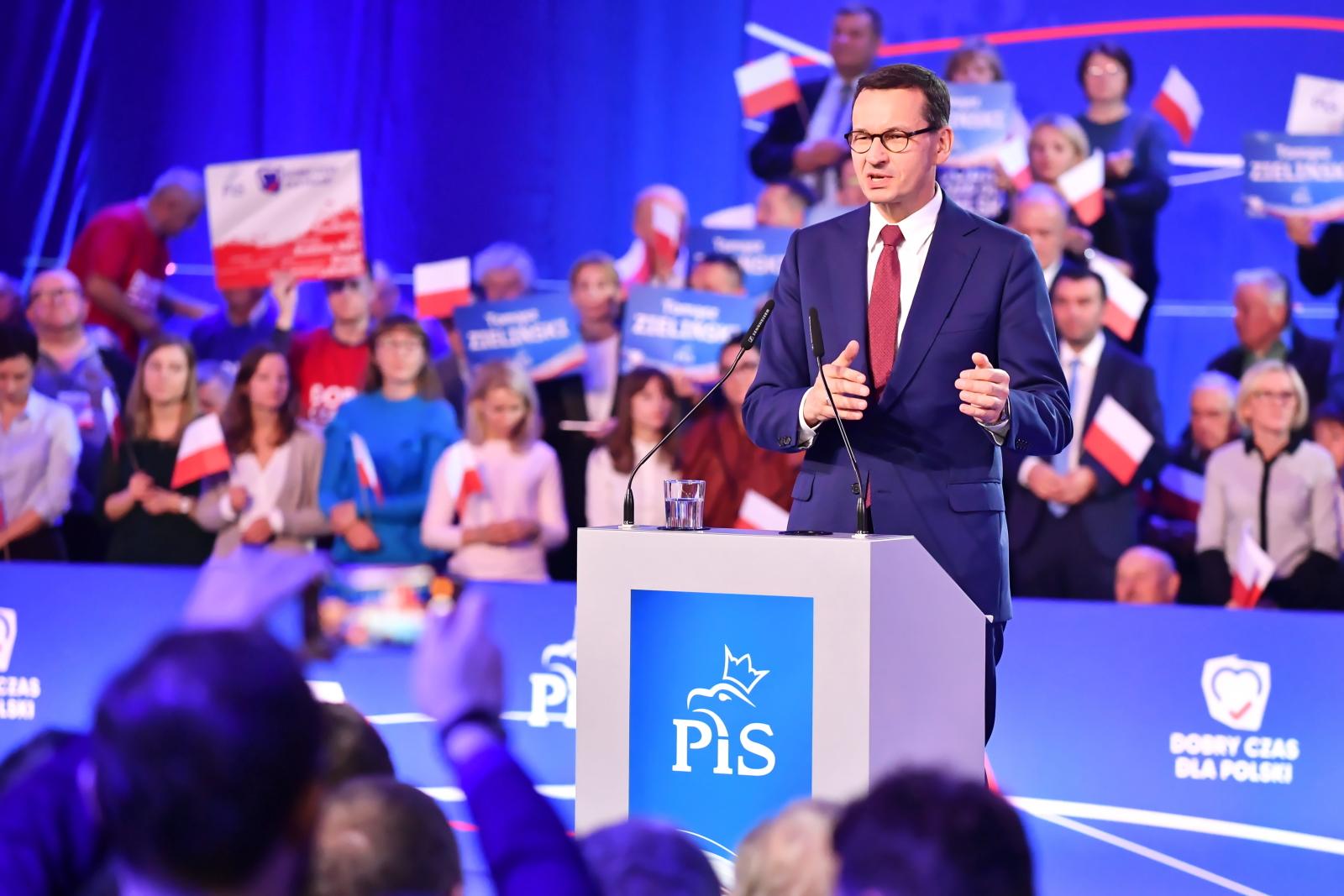 Mateusz Morawiecki podczas konwencji PiS w Chełmie