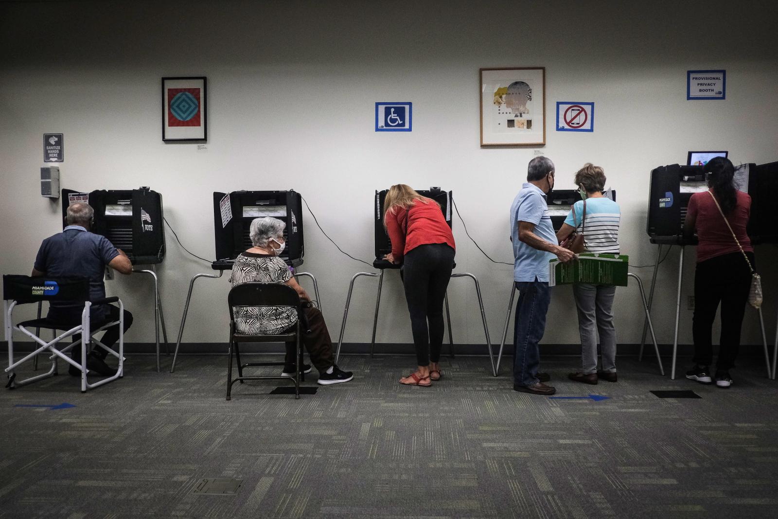 Wczesne głosowanie w Miami na Florydzie