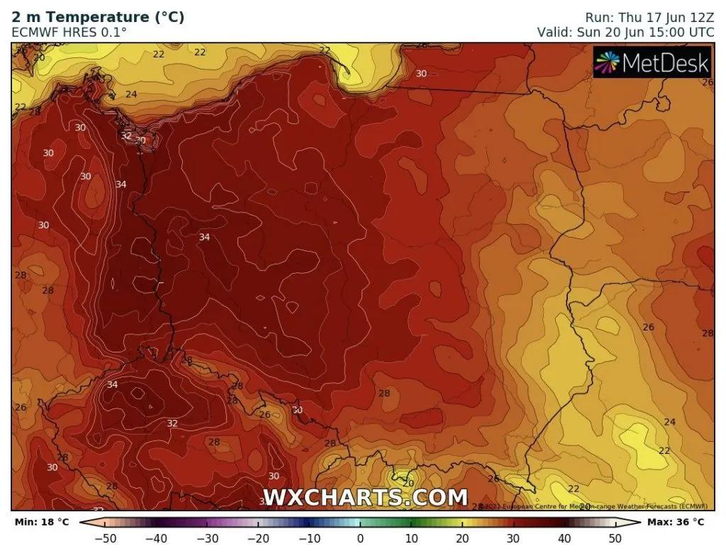 pogoda w Polsce w niedzielę tropikalne upały