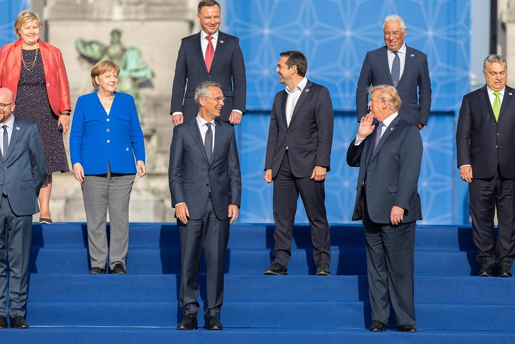 Przywódcy podczas szczytu NATO w Brukseli w 2018 roku