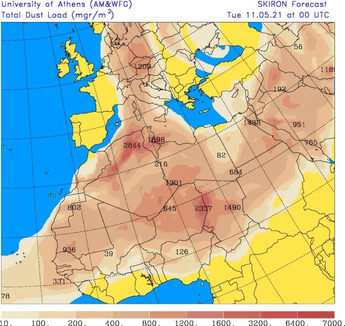 pył saharyjski nad polską