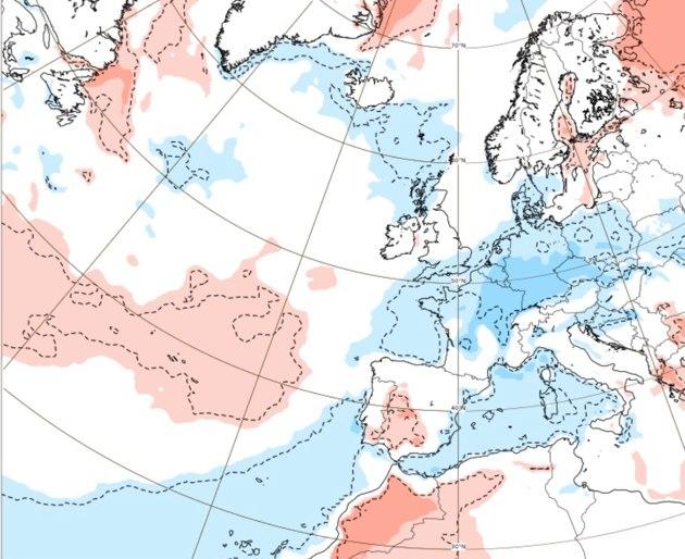 Średnia temperatura od 9.08.2021 do 16.08.2021 wg. modelu ECMWF