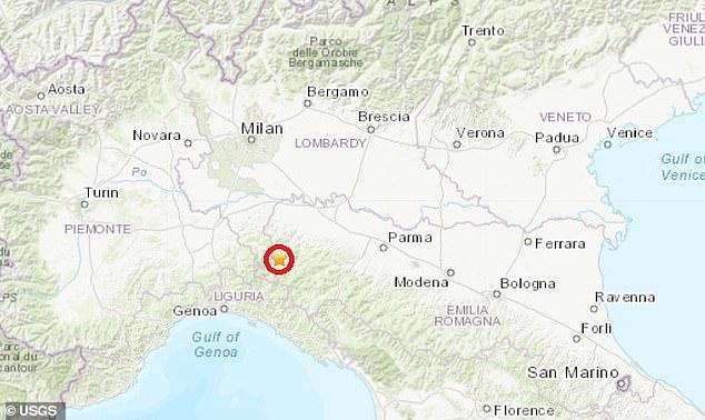 trzęsienie ziemi włochy mapa