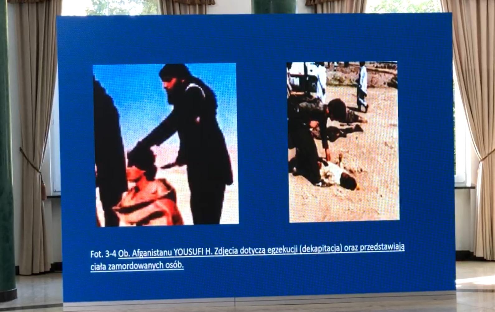 Zdjęcia zaprezentowane na konferencji MSWiA i MON