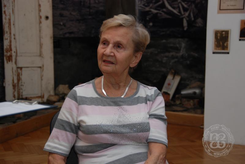 Zofia Burchacińska udziela wywiadu