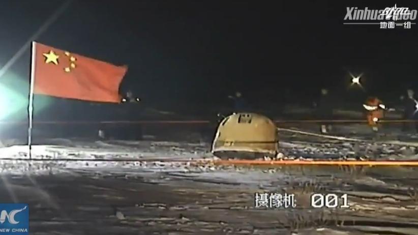 Chińska sonda Chang'e 5 wróciła na Ziemię. Sprowadziła próbki z Księżyca