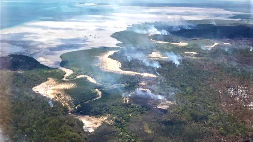 pożar wielkie wyspy piaszczyste