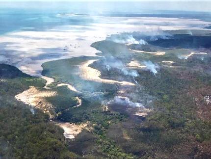 Wielka Wyspa Piaszczysta zniszczona przez pożary lasów