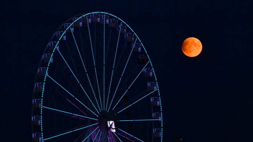 Zaćmienie i pełnia Księżyca 16 lipca. Zobacz zdjęcia i wideo