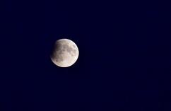 Zaćmienie księżyca widoczne w Szczecinie