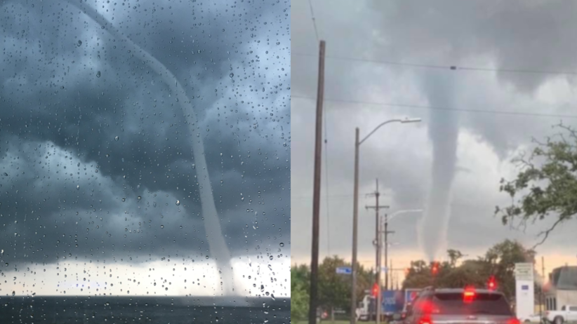 Burza tropikalna i huragan Barry w sobotę w USA. Nagranie trąby wodnej obiegło sieć