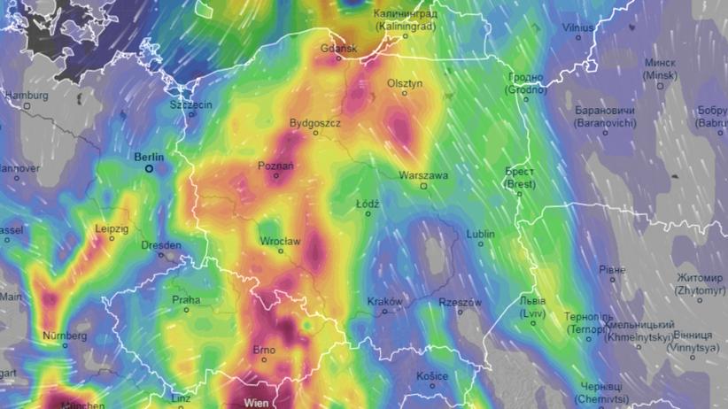 mapa burz