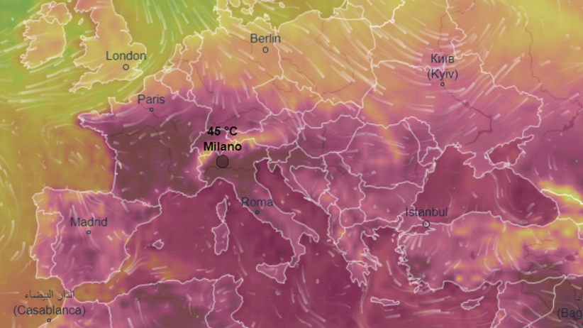 Pogoda czerwiec i lipiec w Rzymie. Włochy walczą z upałem