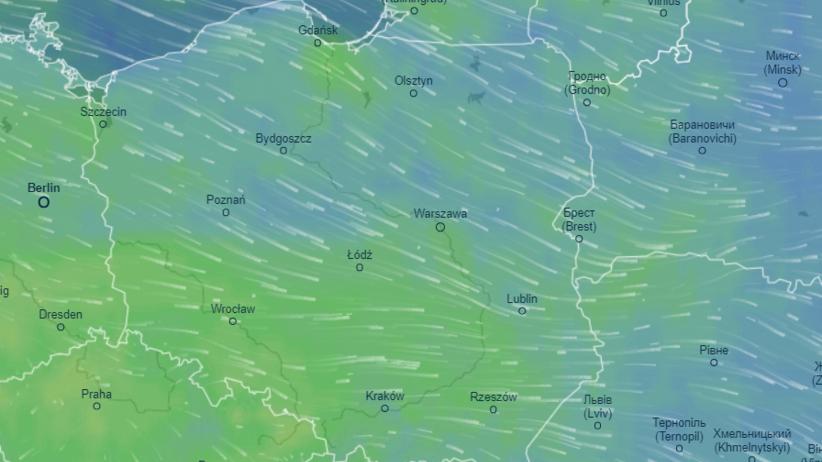 Mapa pogodowa Polski