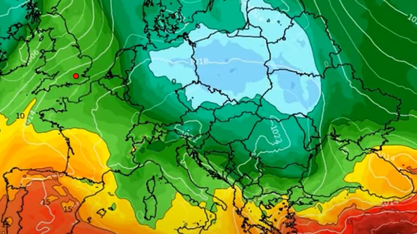 Mapa pogodowa Europy