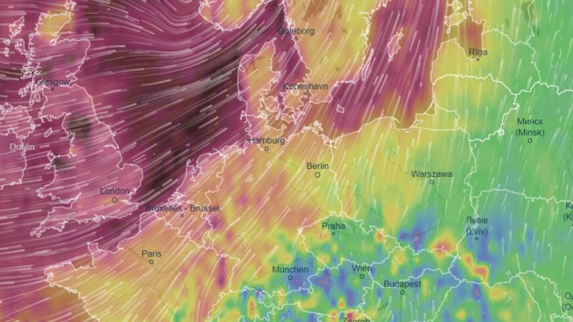 Pogoda. Orkan Sabina coraz bliżej Polski. Polscy Łowcy Burz ostrzegają przed wiatrem